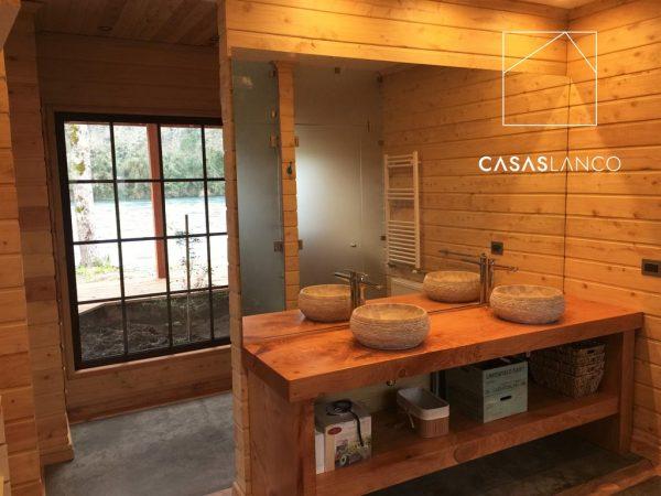 Muebles de vanitorio de madera.