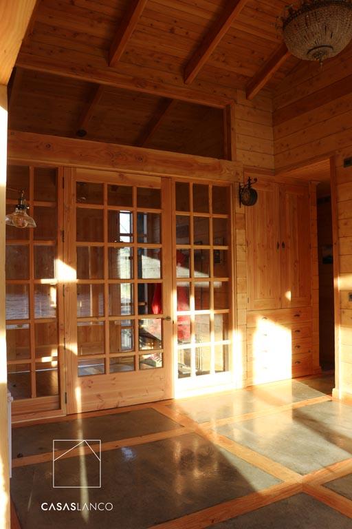 Puertas vidriadas de pino Oregón