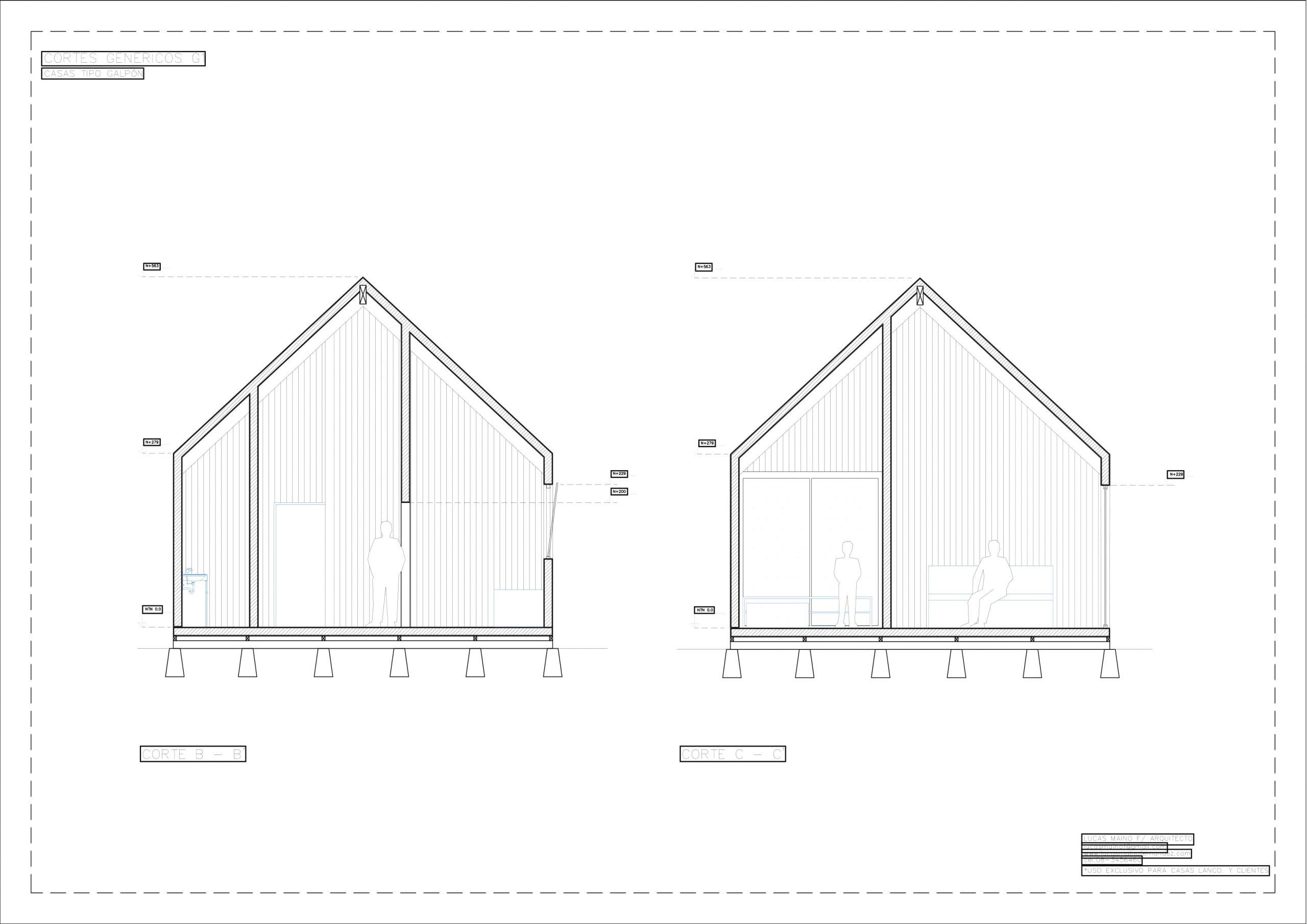 Plano 02 - Casa línea Galpón modelo G1