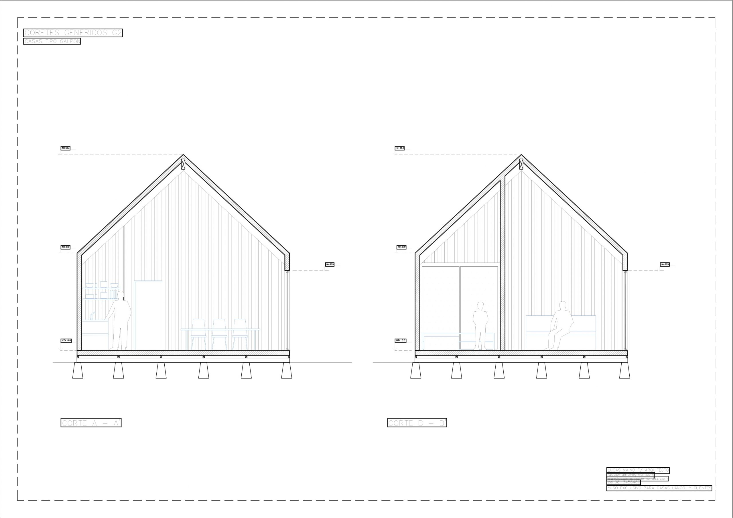 Plano 02 - Casa línea Galpón modelo G2