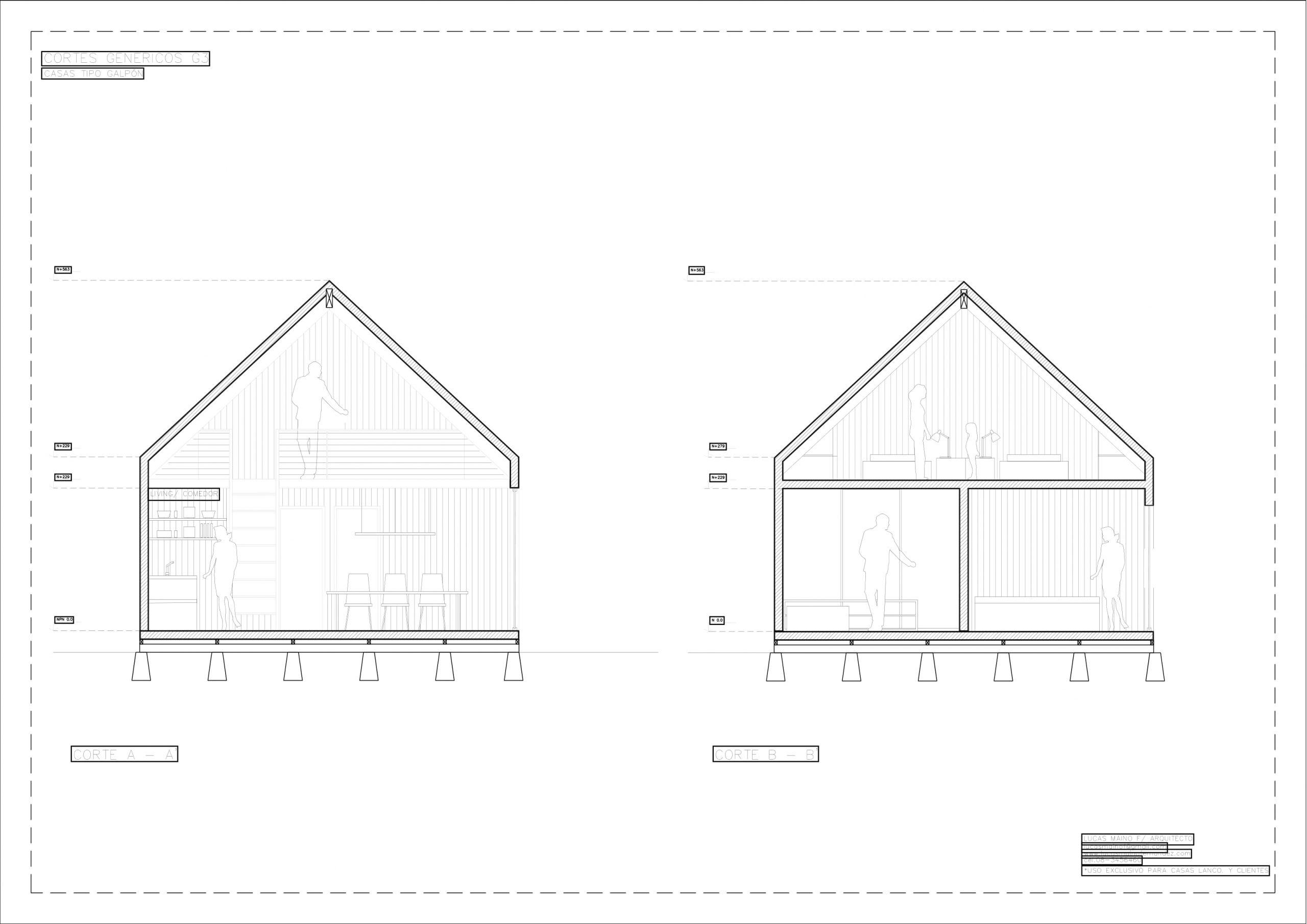 Plano 02 - Casa línea Galpón modelo G3