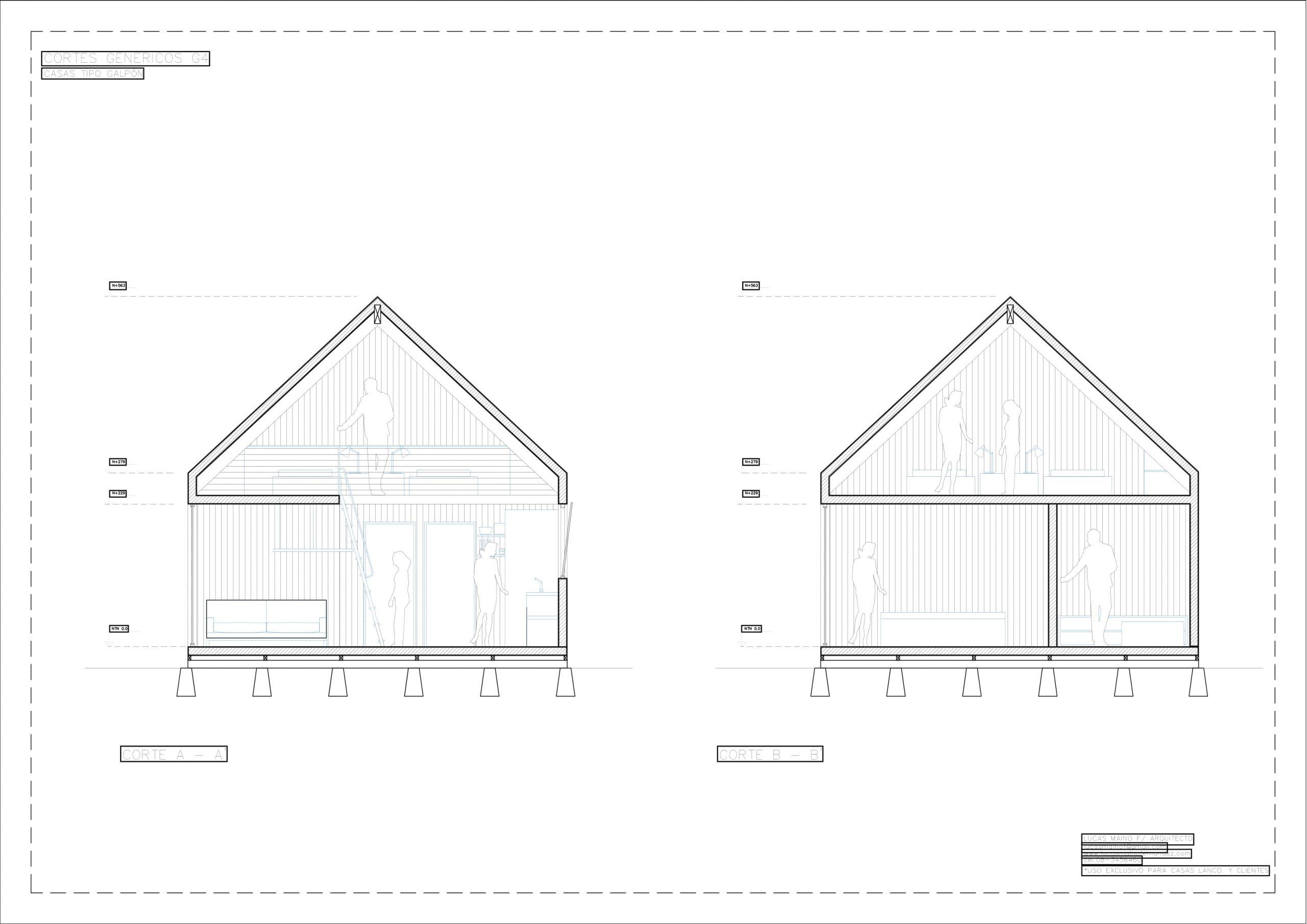 Plano 02 - Casa línea Galpón modelo G4