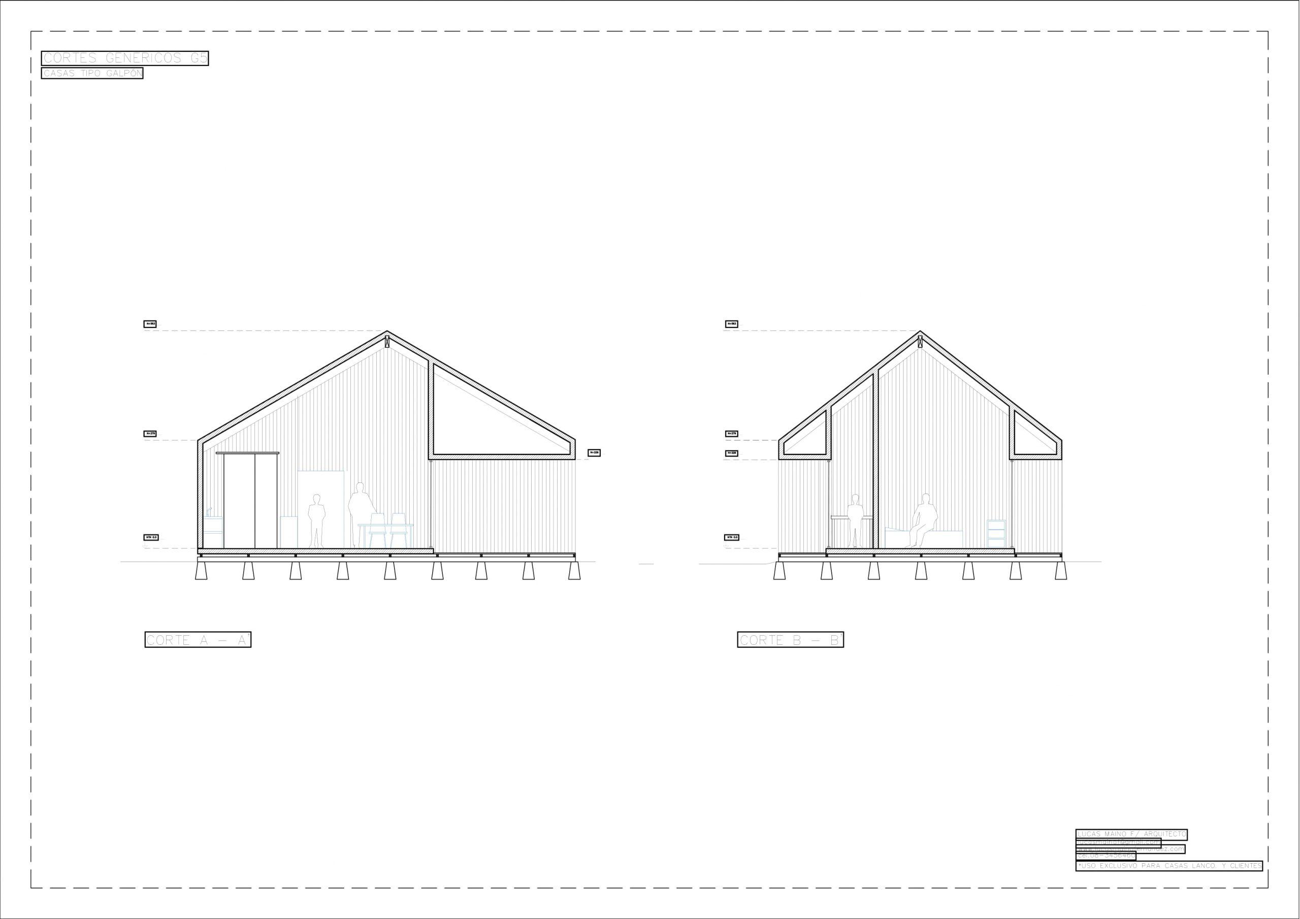 Plano 02 - Casa línea Galpón modelo G5