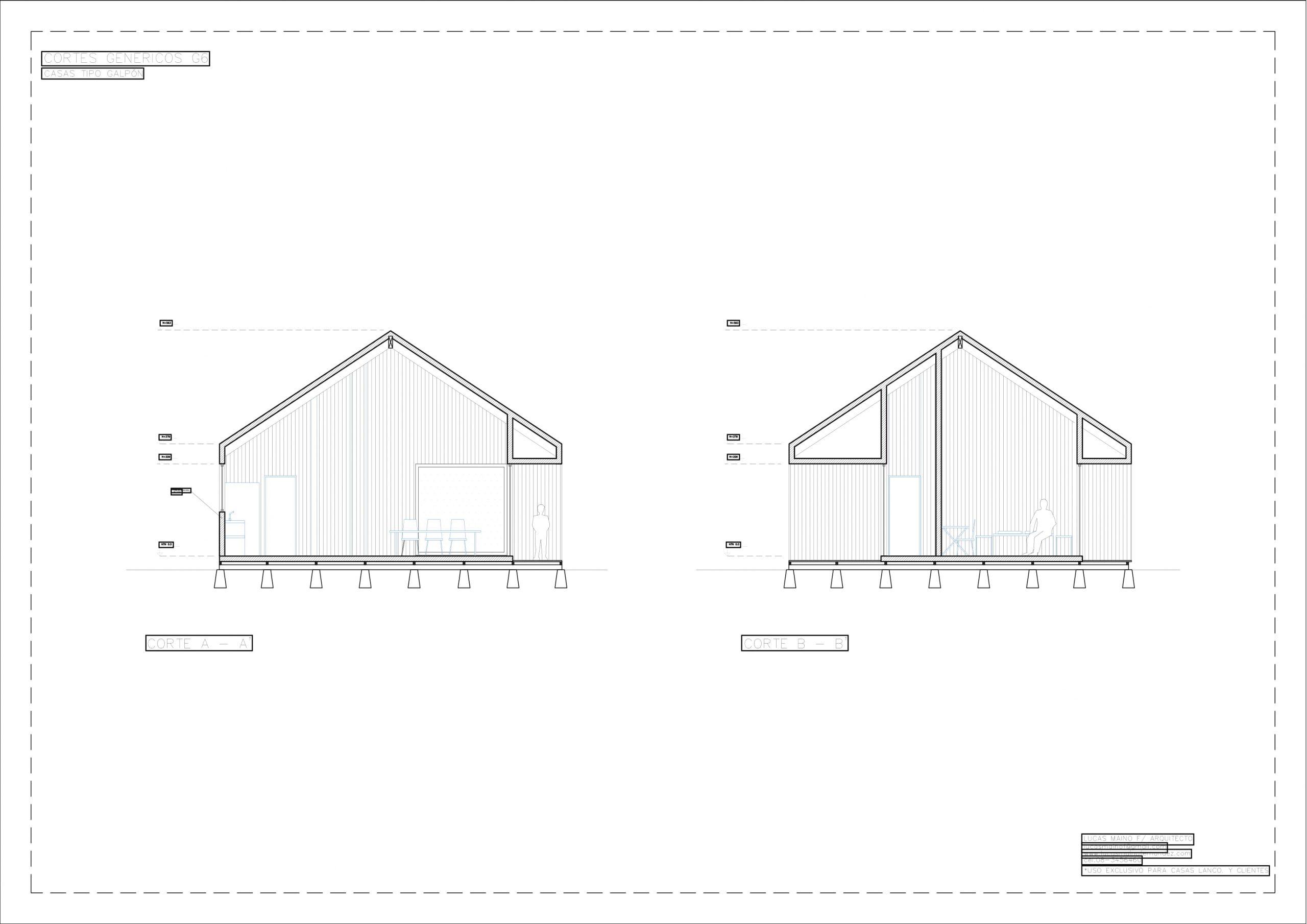 Plano 02 - Casa línea Galpón modelo G6