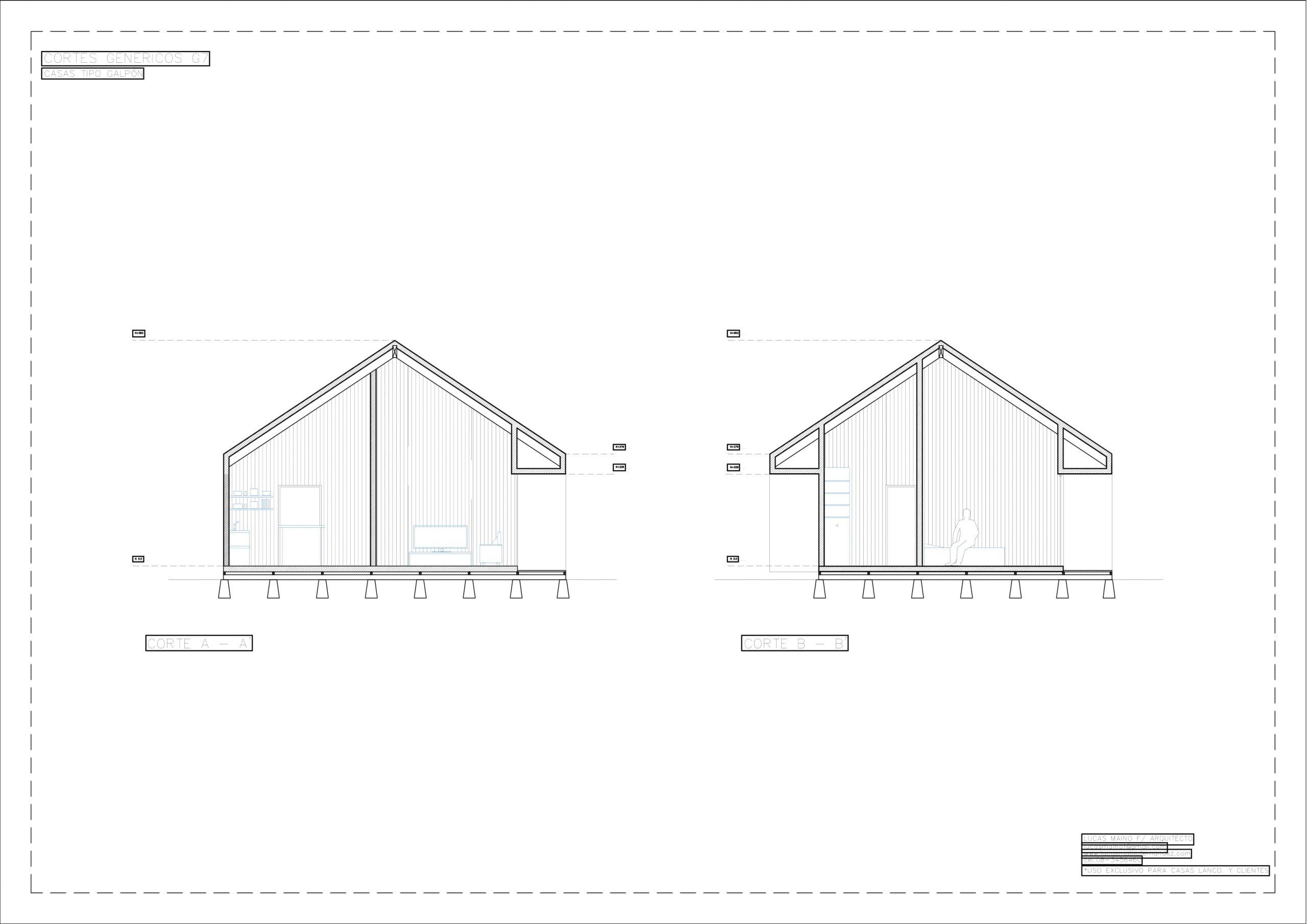 Plano 02 - Casa línea Galpón modelo G7
