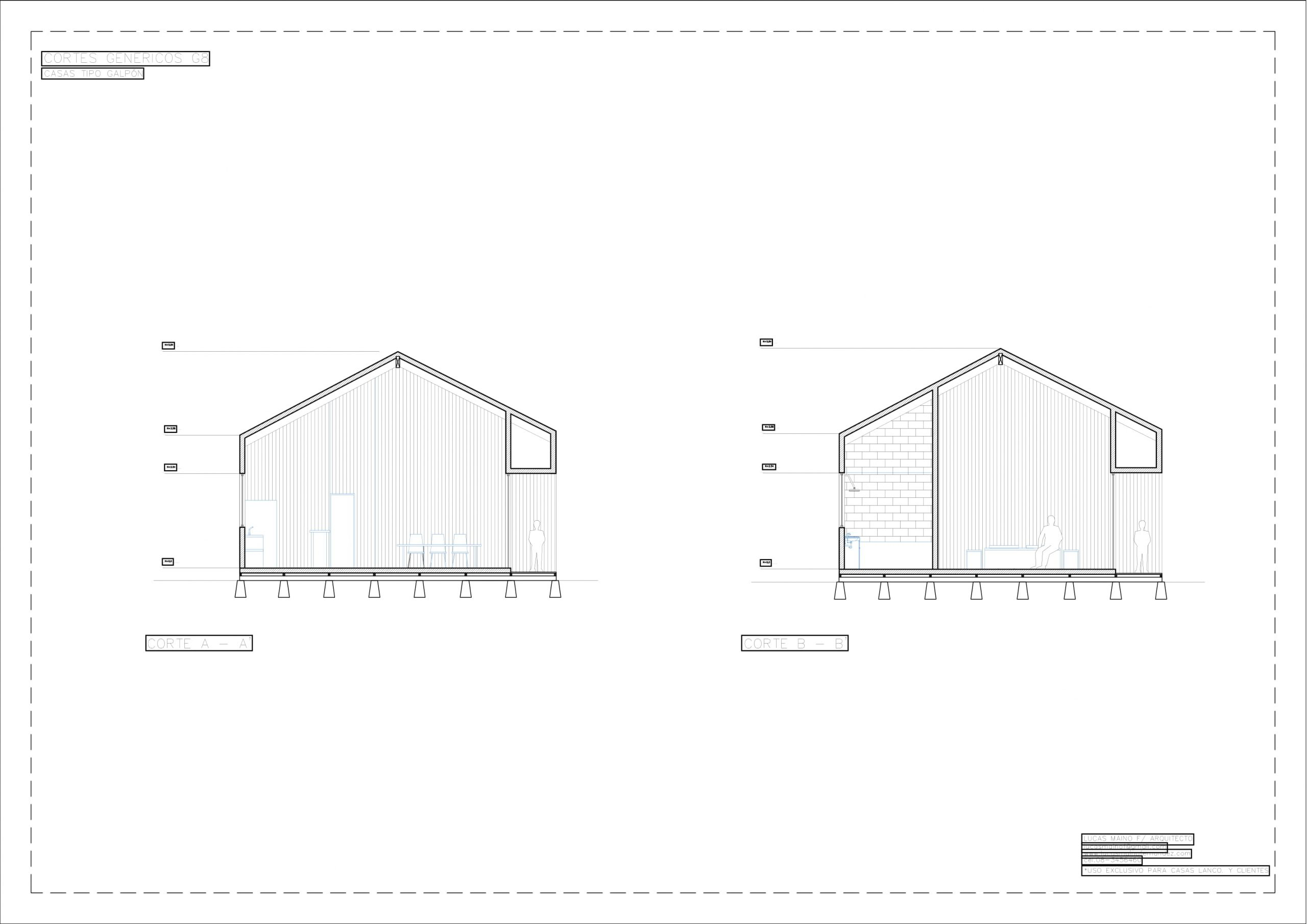 Plano 02 - Casa línea Galpón modelo G8